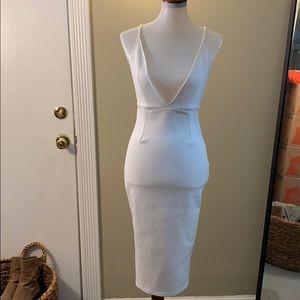 Low cut White ASOS dress
